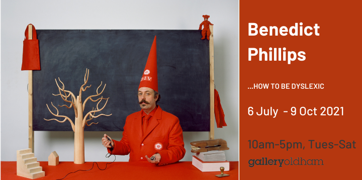 Advertisement for benedict Phillips exhibition on until 9 October 2021