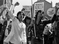 Demonstration in Brick Lane after the racist murder of Atab Ali, London 1978.