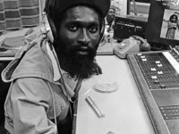 Mikey Dread at the controls at Capital Radio, London 1980.